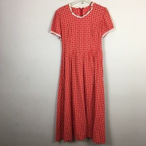 Vintage handmade floral Prairie maxi dress